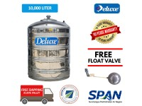 10000 Liter CL 220FL Deluxe Stainless Steel Round Bottom Without Stand Water Tank