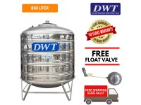 850 Liter DWT Stainless Steel Water Tank With Stand / Round Bottom