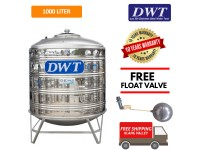 1000 Liter DWT Stainless Steel Water Tank With Stand / Round Bottom
