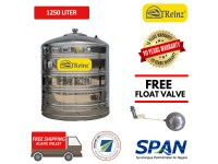 1250 Liter Treinz Stainless Steel Flat Bottom Without Stand Water Tank