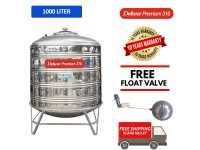 1000 Liter Deluxe Premium 316 Stainless Steel Water Tank With Stand