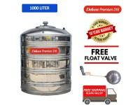 1000 Liter Deluxe Premium 316 Stainless Steel Water Tank Without Stand