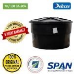 70/100 Gallon Deluxe Polyethylene Round type Water Tank