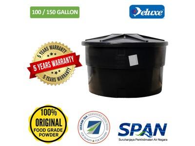 100/150 Gallon Deluxe Polyethylene Round type Water Tank