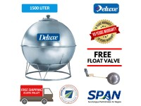 1500 Liter Deluxe Stainless Steel Earth Shape Water Tank with Stand