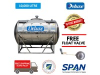 10000 Liter Deluxe Stainless Steel Water Tank Horizontal with Stand
